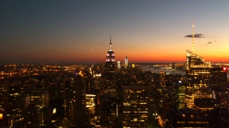 Empire State Building 'at sunset'