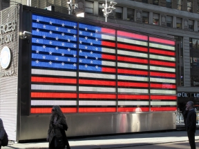 Flag in Times Square