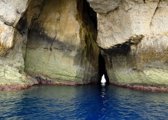 The water around Gozo's Azure Window is the most beautiful blue.